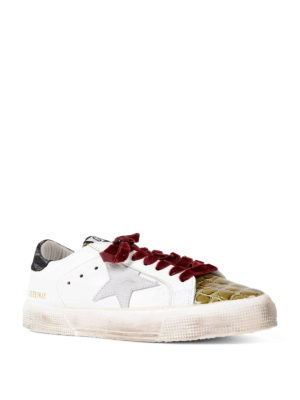 Golden Goose: trainers online - May multi print leather sneakers
