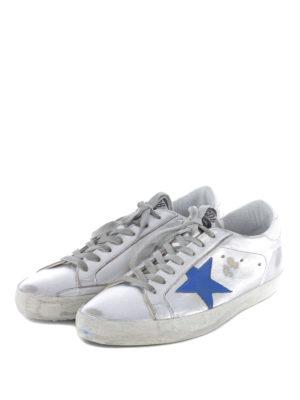 Golden Goose: trainers online - Metallic leather Superstar sneakers