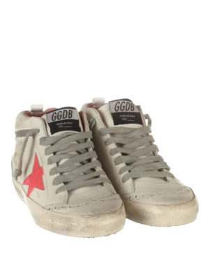 Golden Goose: trainers online - Mid Star brogue off-white sneakers