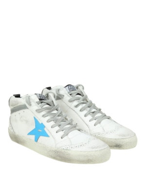 Golden Goose: trainers online - Mid Star crackle leather sneakers