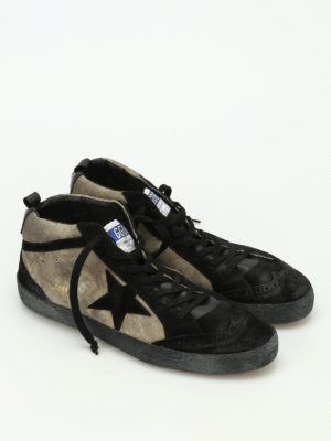 Golden Goose: trainers online - Mid Star two-tone suede lace-ups