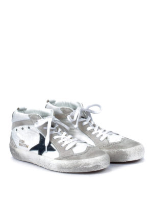 Golden Goose: trainers online - Mid Star used effect suede lace-ups