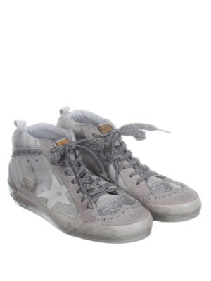 Golden Goose: trainers online - Mid Star zebra-striped sneakers