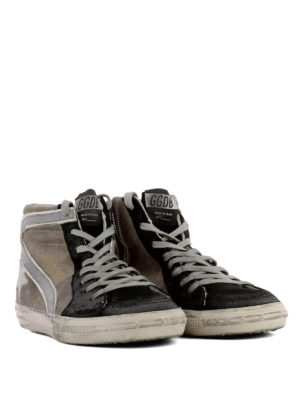 Golden Goose: trainers online - Slide canvas and suede sneakers