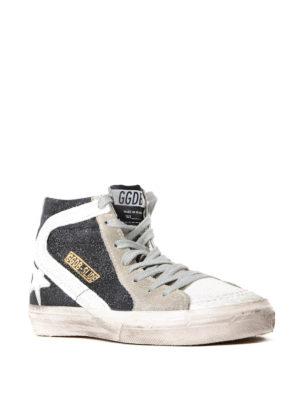 Golden Goose: trainers online - Slide high top glitter sneakers