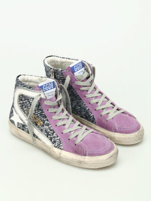 Golden Goose: trainers online - Slide laminated leather sneakers