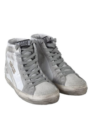 Golden Goose: trainers online - Slide leather and glitter sneakers