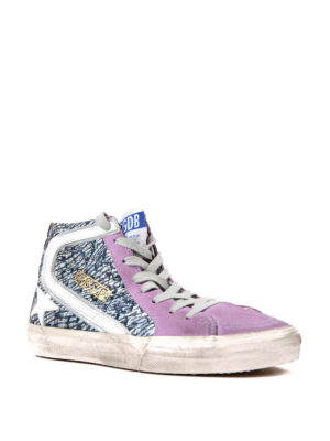 Golden Goose: trainers online - Slide woven leather sneakers