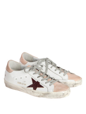 Golden Goose: trainers online - SStar two-tone leather sneakers