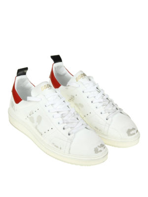 Golden Goose: trainers online - Starter used effect leather sneaker