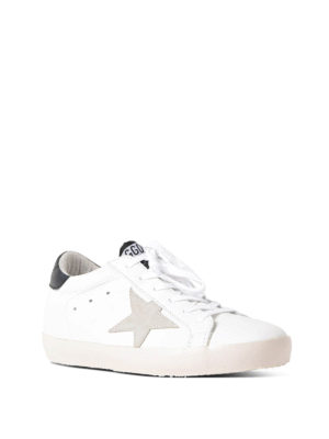 Golden Goose: trainers online - Superstar black and white sneakers