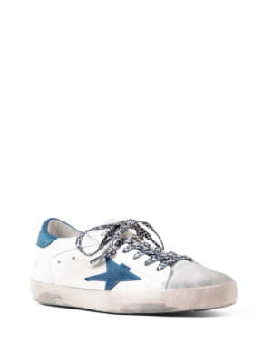 Golden Goose: trainers online - Superstar blue and white sneakers