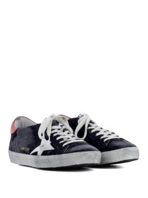 Golden Goose: trainers online - Superstar blue suede sneakers