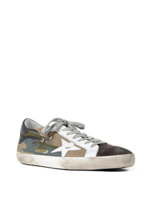 Golden Goose: trainers online - Superstar camouflage print sneakers