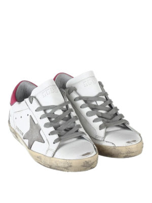 Golden Goose: trainers online - Superstar contrasting heel sneakers