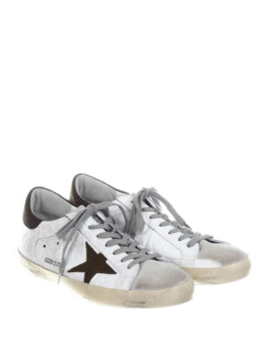 Golden Goose: trainers online - Superstar creased leather sneakers