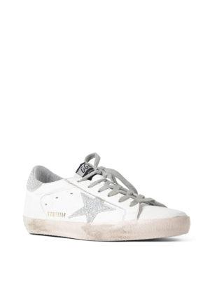 Golden Goose: trainers online - Superstar glitter detail sneakers