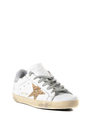 Golden Goose: trainers online - Superstar glitter patch sneakers