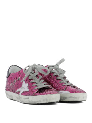 Golden Goose: trainers online - Superstar glittered fabric sneakers