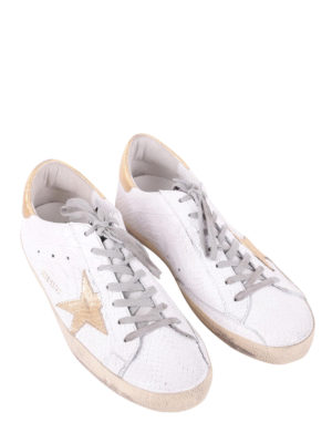 Golden Goose: trainers online - Superstar gold and croco sneakers