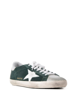 Golden Goose: trainers online - Superstar green suede sneakers