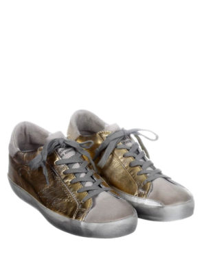Golden Goose: trainers online - Superstar laminated gold sneakers