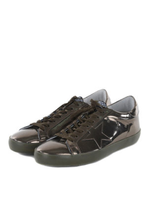 Golden Goose: trainers online - Superstar laminated leather sneaker