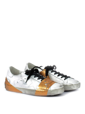 Golden Goose: trainers online - Superstar laminated tape sneakers