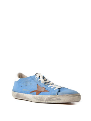 Golden Goose: trainers online - Superstar light blue sneakers