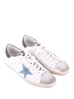 Golden Goose: trainers online - Superstar light blue star sneakers