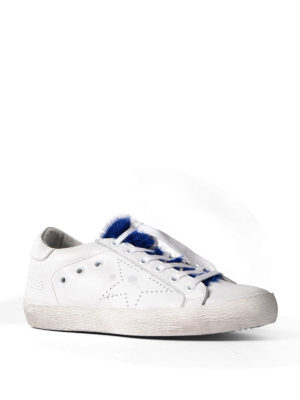 Golden Goose: trainers online - Superstar mink fur sneakers