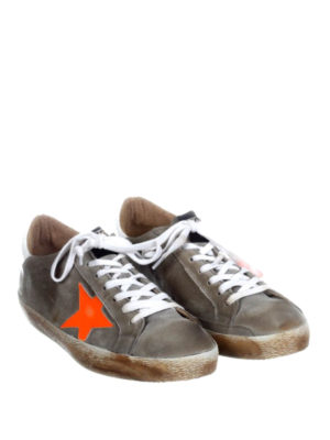 Golden Goose: trainers online - Superstar orange star sneakers