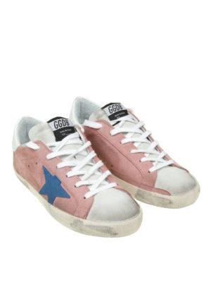 Golden Goose: trainers online - Superstar pink suede sneakers