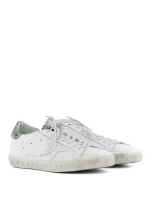 Golden Goose: trainers online - Superstar rear silver insert shoes