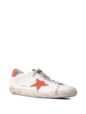 Golden Goose: trainers online - Superstar red detailed sneakers