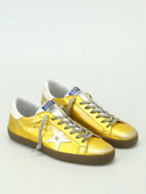 Golden Goose: trainers online - Superstar shiny leather sneakers