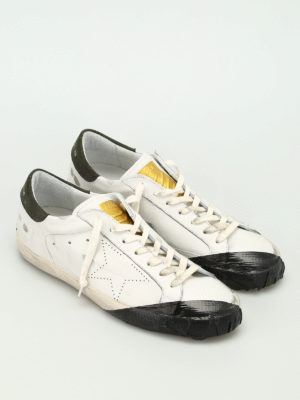 Golden Goose: trainers online - Superstar sneaker with black scotch