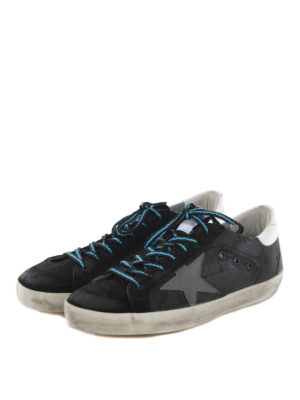 Golden Goose: trainers online - Superstar suede and nylon sneakers