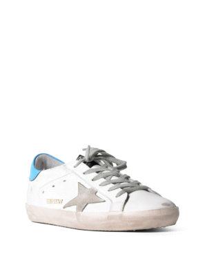 Golden Goose: trainers online - Superstar suede logo sneakers