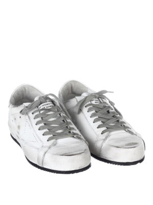Golden Goose: trainers online - Superstar used leather sneakers