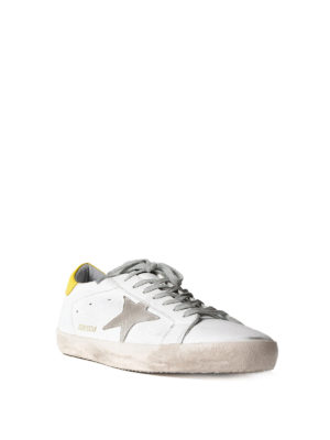 Golden Goose: trainers online - Superstar yellow detailed sneakers