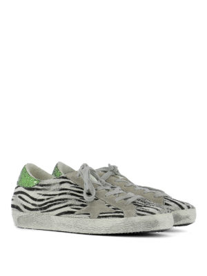Golden Goose: trainers online - Superstar zebra pony hair sneakers
