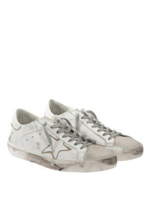 Golden Goose: trainers online - Two-tone leather sneakers