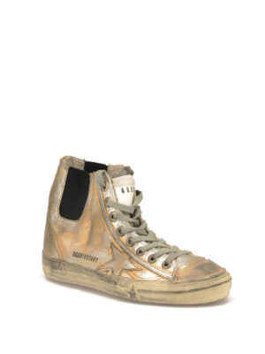 Golden Goose: trainers online - V-Star 1 coated canvas sneakers