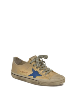 Golden Goose: trainers online - V-Star 2 laminated cotton sneakers
