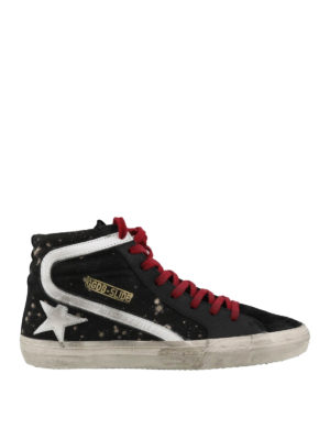 GOLDEN GOOSE: trainers - Slide bleached effect sneakers