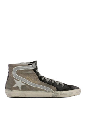 Golden Goose: trainers - Slide canvas and suede sneakers