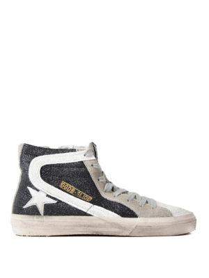 Golden Goose: trainers - Slide high top glitter sneakers