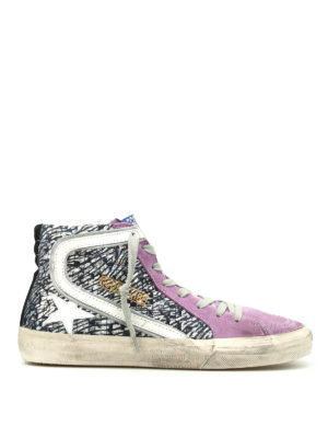 Golden Goose: trainers - Slide laminated leather sneakers