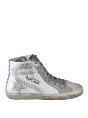 Golden Goose: trainers - Slide leather and glitter sneakers